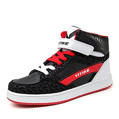 (Littleplum Sneakers Mens Shoes High Top Kids Skate Shoes Slip-on Fashion Boots Leather Street Sport Running Shoes Outdoor Indoor)