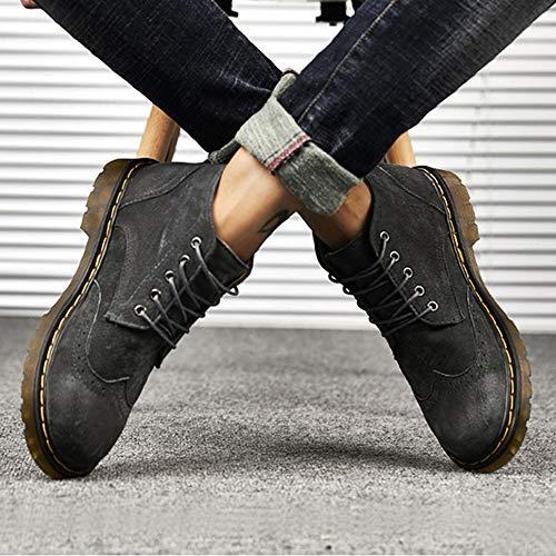 1 Stivali Moda Up Urban Lace Uomo Invernali grigio Melady Scarpe HxF7w8B0