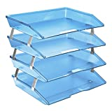 Acrimet Facility Letter Tray 4 Tiers (Clear Blue Color)