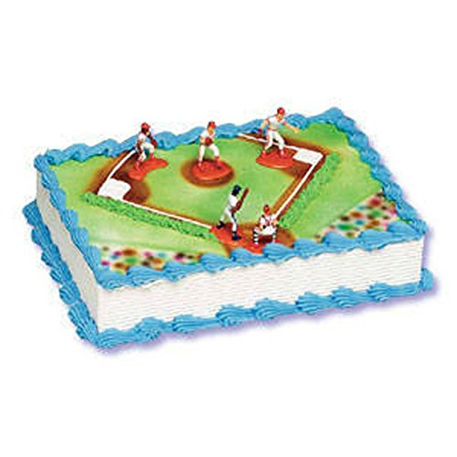 Baseball 5 piece Cake Decorating Kit Catcher Pitcher Outfielders Batter (Baseball Decorating Kit)