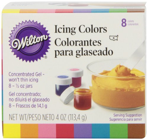 Wilton Set of 8 Icing Colors (Wilton Cake Decorating Color)
