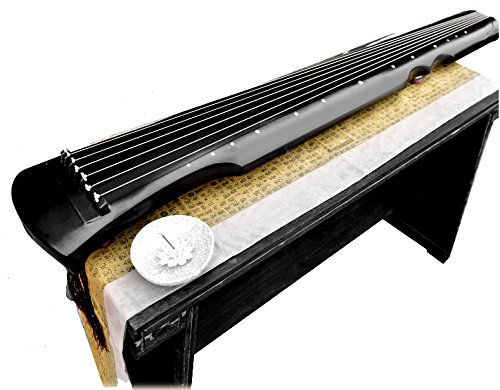 OrientalMusicSanctuary Lacquered Aged Paulownia Guqin - 7-string Chinese Zither (Fuxi Style)