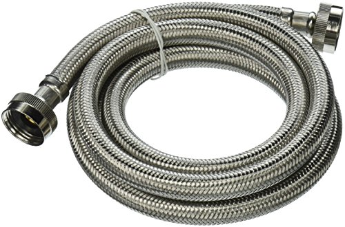 Plumb Pak PP22816 Washing Machine Hose, 3/4 in X 6 Ft, X Fgh, Stainless Steel, 6'