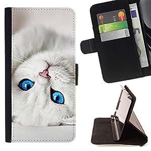 Momo Phone Case / Flip Funda de Cuero Case Cover - Gatito lindo bebé ojos de gato negro para mascotas - HTC Desire 626