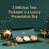VAHDAM, Chai Tea Private Reserve TRIO - 3 TEAS   Award Winning Christmas Tea Gift Set    Ginger Chai, Cinnamon Chai, Maharani Oolong Chai   100% Natural Spices   Brew Hot, Iced, Chai Latte ☕️
