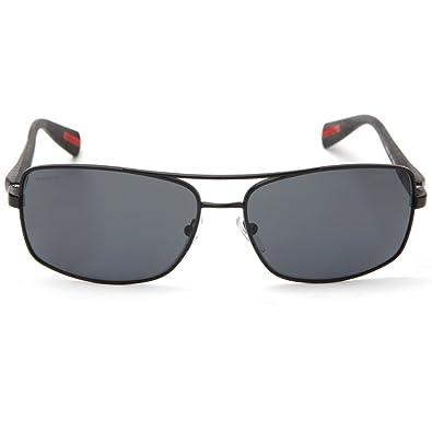 Amazon.com: Prada Sport 50OS 1bo 5Z1 Shiny Negro/Gris ...