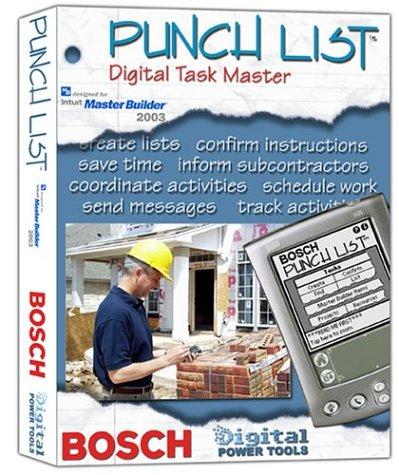 Price comparison product image Bosch Punch List Digital Task Master,  Master Builder 2003 Version BDPTPLMB (DVD-ROM)