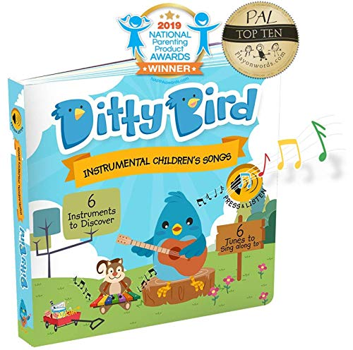 DITTY BIRD Baby Sound Book: Our Instrumental Children's Songs Musical Book for Babies is The Perfect Toys for 1 Year Old…