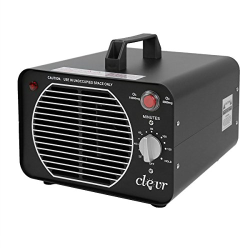 Clevr Commercial Ozone Generator Dual 10000/5000 mg/h O3 Air Purifier Deodorizer, Allergies allergen Reducer | 1 Year Limited Warranty