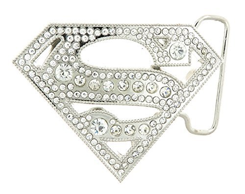 Superman with Rhinestones Belt Buckle (Superman Rhinestone)