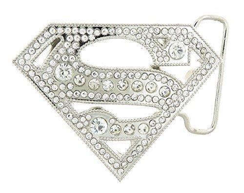 Superman with Rhinestones Belt Buckle (Rhinestone Superman)