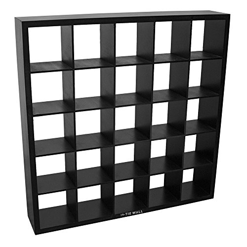 The Tie Wall Tie Belt Socks Scarves Closet Organizer Display Cabinet Storage (Black) by The Tie Wall