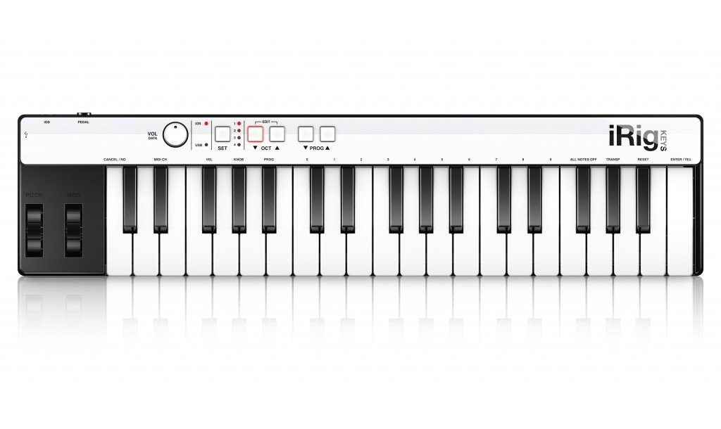 IK Multimedia iRig Keys compact MIDI controller for iPhone, iPad, Android and Mac/PC by IK Multimedia