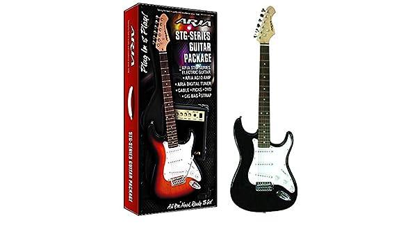 Aire AGPN-003 - Pack guitarra eléctrica con amplificador, incluye bolsa: Amazon.es: Instrumentos musicales
