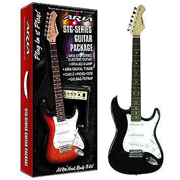 Aire AGPN-003 - Pack guitarra eléctrica con amplificador, incluye ...