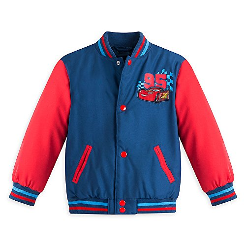 Disney Boys Cars Varsity Jacket Blue