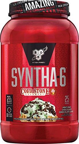 BSN Syntha-6 Whey Protein Powder, Cold Stone Creamery-Mint M