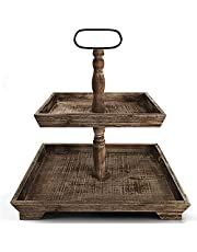 Display Your Farmhouse Tiered Tray Decor Farmhouse Tiered Tray Stand Two Tier Tray