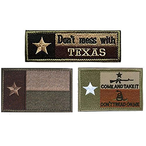 Homiego Texas State Flag Military Tactical Morale Desert Badge Hook & Loop Embroidery Patch for Hat Backpack Jacket (Texas State Flag - A) (State Texas Patch Flag)