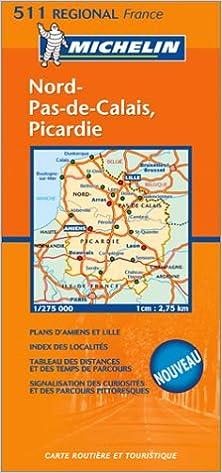 Carte Routière Nord Pas De Calais Picardie 9782067105683