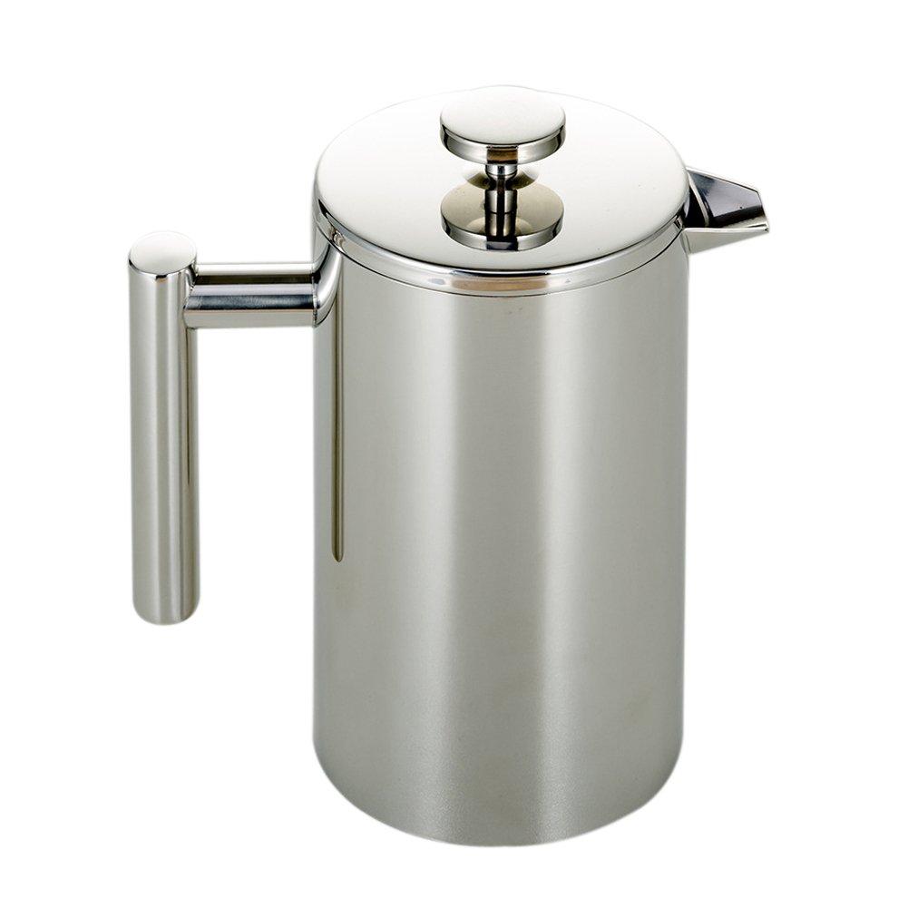 Tebery French Press Coffee Maker, Double Wall Stainless Steel,French Press Set, Espresso Coffee or Tea Maker, Teapot (34oz/1000mL)