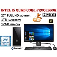 Dell Inspiron 3668 27 Full HD i3668 Desktop Bundle ~ 7th Gen. Intel Core i5-7400 Quad Core 3.0GHz ~ 12GB DDR4 ~ 1TB 7200RPM HDD ~ DVDRW ~ WiFi+BT ~ 1080P Dell 27.0 Monitor ~ Windows 10