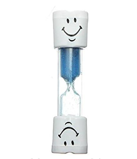 Leisial Mini Reloj de Arena Plástico Sonriente Temporizador Niños Cepillo de Dientes de 3 Minutos Azul