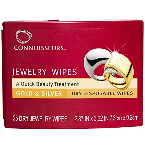 (Connoisseurs 1051 Jewelry Wipes Jewely Cleaner, Silver)