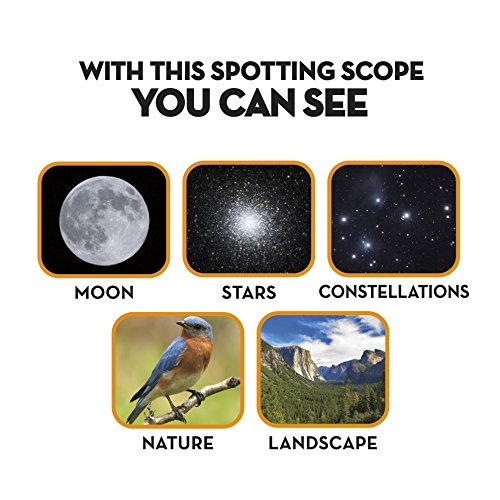 021276050209 - Space Navigator App-Enhanced Star Finding Spotting Scope - Powered by SkyView, Silver/Black carousel main 3