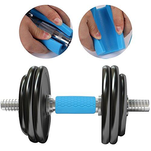 ... Finegood Agarres de goma de grosor mancuernas para levantamiento de pesas Formación y el crecimiento muscular, fortalecer antebrazo bíceps tríceps, ...