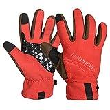 Outdoor Anti-Slip Anti-Pilling Wind-proof Warm Touch Screen Full-Finger Fleece Gloves - Orange (Pair/L)