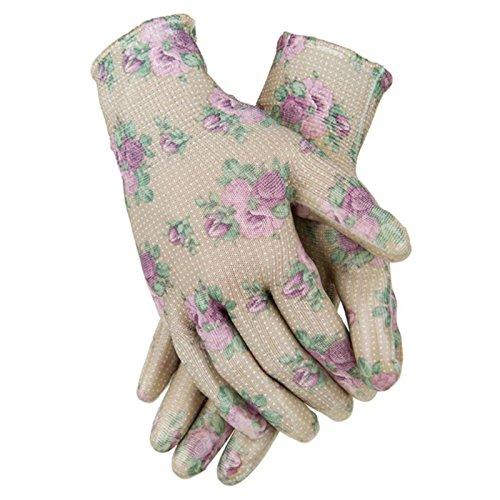 Garden Girl USA Full Dungaree/Bibpants, 18-Inch, Roses Tan by Garden Girl USA (Image #1)
