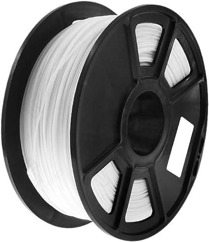 Semoic Blanco 1Kg-Pla Filamento 1.75 M Plástico Material de Goma ...