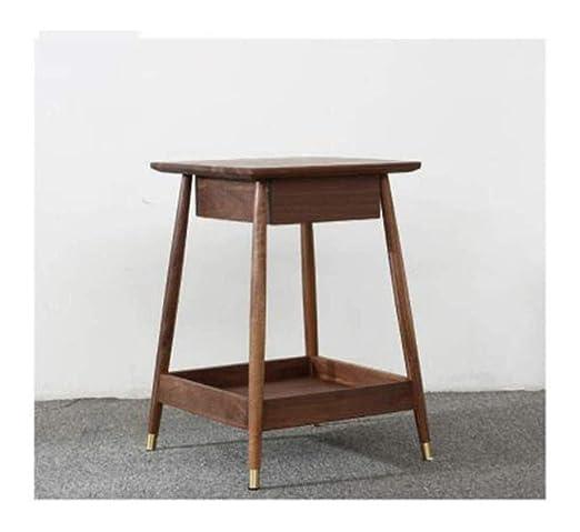 Mesa portátil pequeño café Mesa de centro mesa de centro con ...