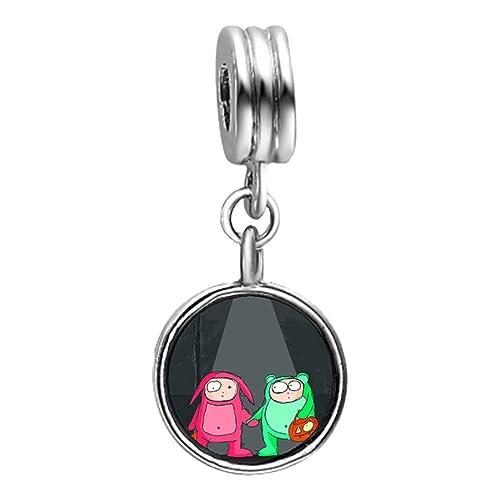 Amazon.com: GiftJewelryShop happy Halloween rabbit frog ...