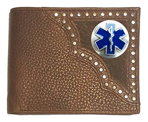 Life EMS Hair of Bi Cross Custom on Hide Wallet Brown fold EMT IZR85T