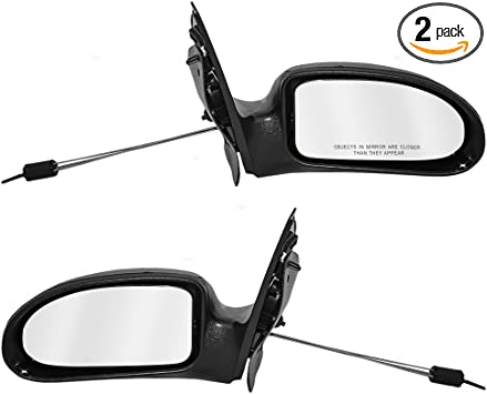 NEW RIGHT SIDE MIRROR TEXTURED BLACK FITS 2000-2002 FORD FOCUS FO1321179