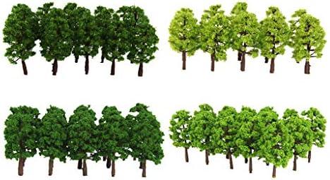 sharprepublic 1/150 モデルツリー 樹木模型 木 鉢植え用 高さ8cm 鉄道模型 風景 モデル ジオラマ 建築模型 電車模型 約80個