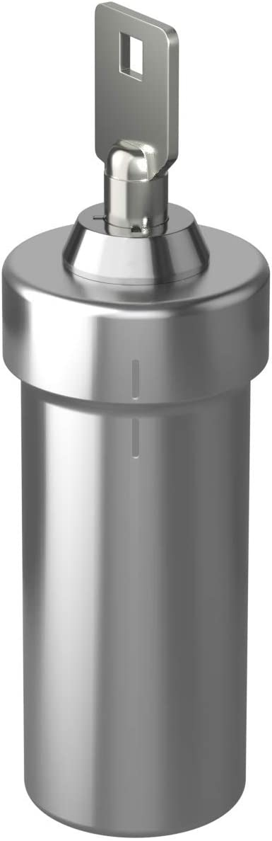 Ezy Dose Pill Box and Medicine, Vitamin Container | Safe for Money & Travel Items | Stainless Steel | 2 Keys with Lock | Large