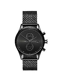 MVMT Voyager MV01-BL2 Reloj analógico de cuarzo para hombre, de acero inoxidable, color negro