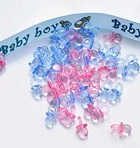 Sharplace 50pcs Mini T/étine Plastique Charm D/écoration de F/ête Cadeau Favor F/ête de Naissance B/éb/é Rose