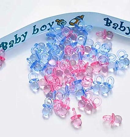 Transparente Blau and rosa SANDIN 100 pcs Mini Schnuller Baby Dusche Bevorzugungs Partei Dekorationen Taufe