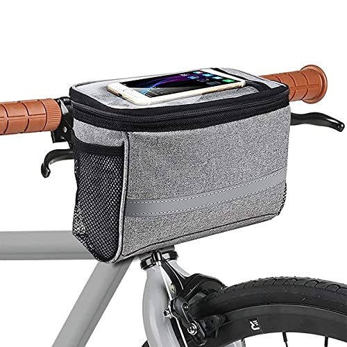 MATTISAM Bike Basket, Insulated Thermal Bike Cooler, Water Resistant Bike Handlebar Bag with Bike Phone Mount, Bicycle Basket, Bike Bag for Bike Accessories Kids Girls Boys Men Women Scooter Cruiser