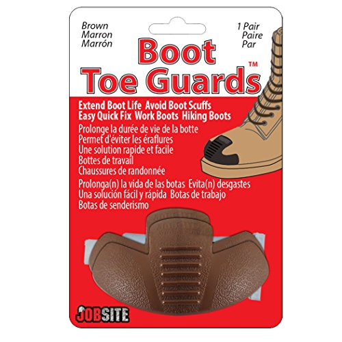 JobSite Heavy Duty Boot Toe Guards - Boot Toe Protector Cover - Extend Boot Life & Protect Against Boot Scuffs