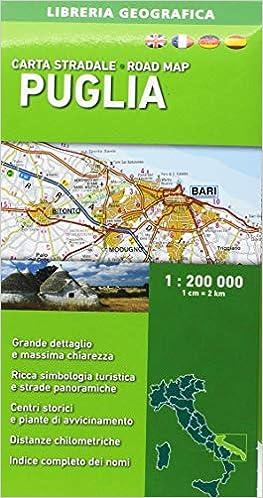 Puglia Cartina Turistica.Amazon It Carta Stradale Della Puglia 1 200 000 Libri