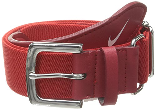 db04529deb4560 Amazon.com: Nike Adult Baseball Belt (Black/White, OSFM): Sports & Outdoors