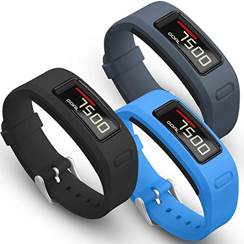 SKYLET for Garmin Vivofit Bands, Colorful Silicone Replacement Band for Garmin Vivofit 1 Wristband with Metal Buckle (No Tracker) ()