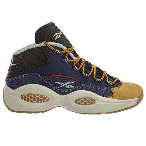 Reebok Frage Mid Dress Code Männer Basketball-Schuhe Blau