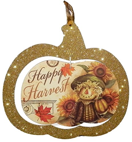 Thanksgiving Classroom Door (Sparkly Hanging Sign For Door Classroom Thanksgiving Door Decorations Themed Fall Decorations for Home(Happy)