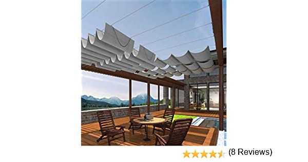 Toldo de pérgola retráctil PATIO Paradise: Amazon.es: Jardín